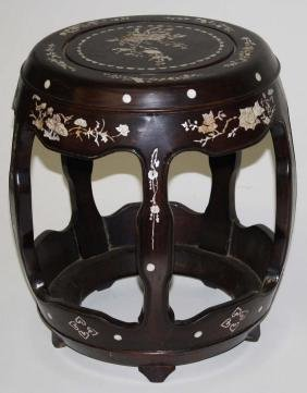 Oriental mother of pearl inlaid low stand