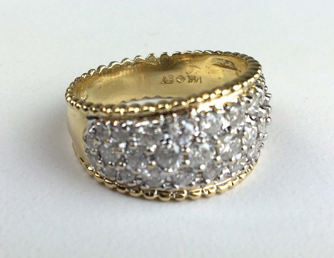 Men's 14k y.g and diamond pave ring.