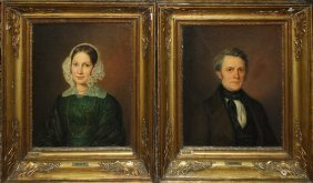 Pair of Danish school portraits attributed to August