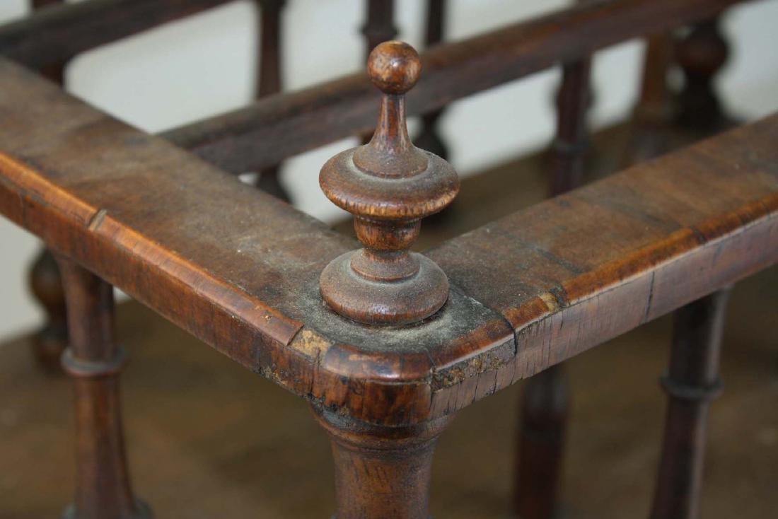 19th c Empire mahogany veneered 1 drawer canterbury - 10