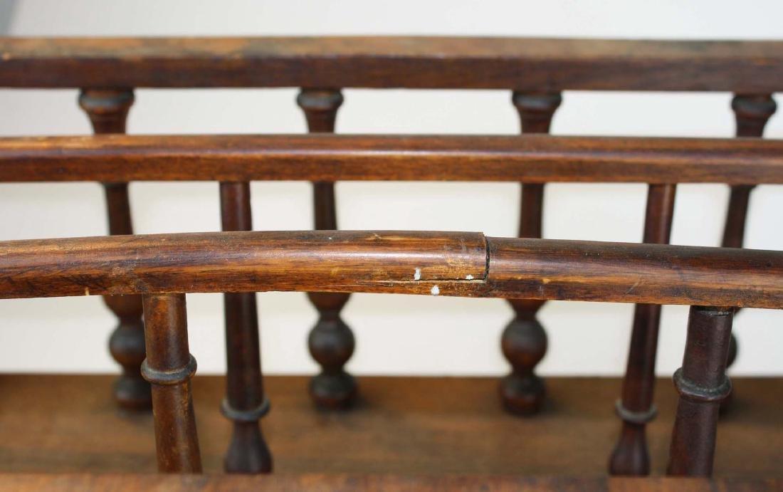 19th c Empire mahogany veneered 1 drawer canterbury - 6