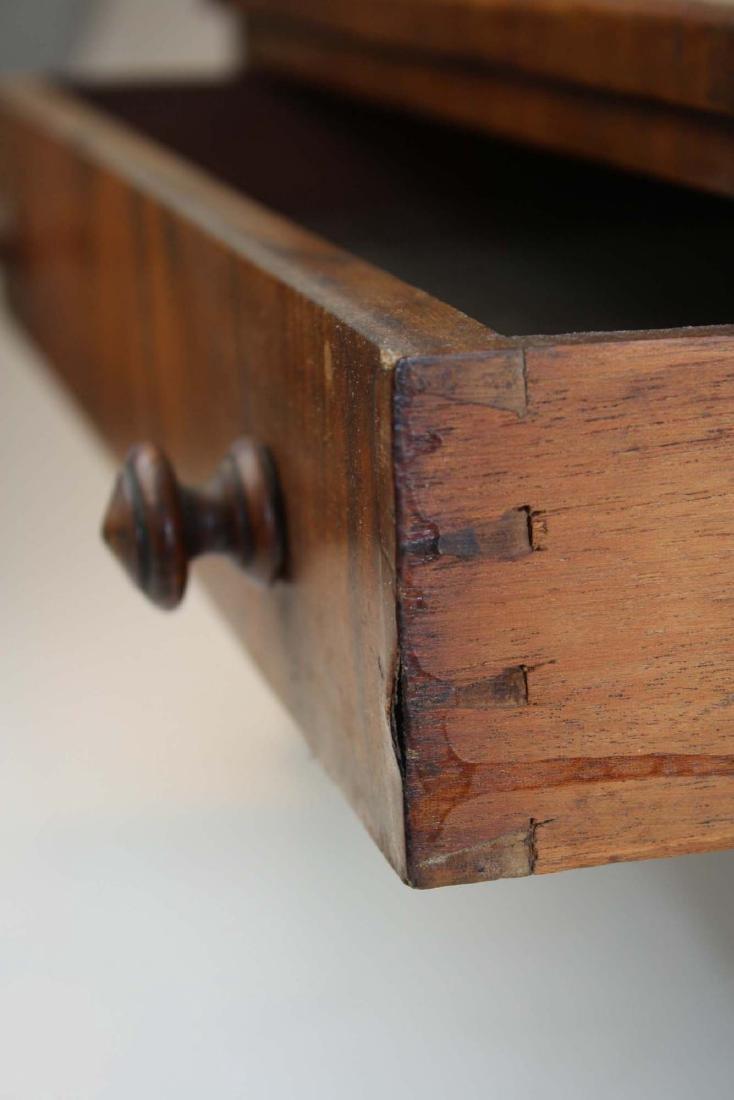 19th c Empire mahogany veneered 1 drawer canterbury - 8