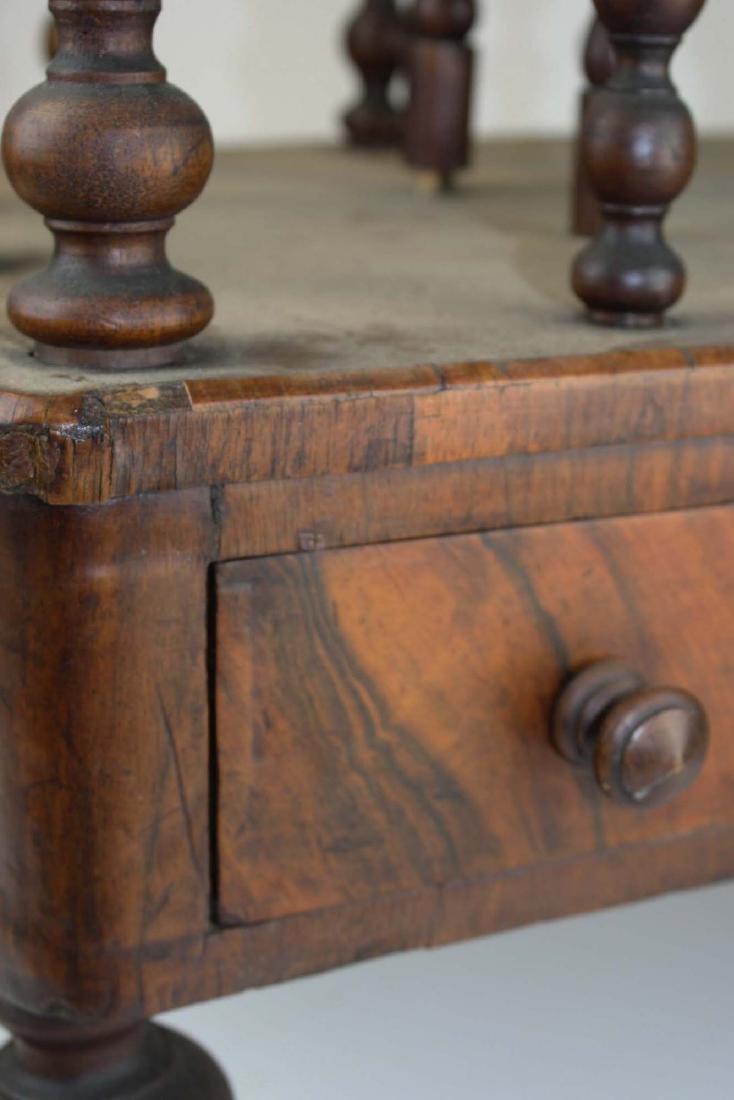19th c Empire mahogany veneered 1 drawer canterbury - 9