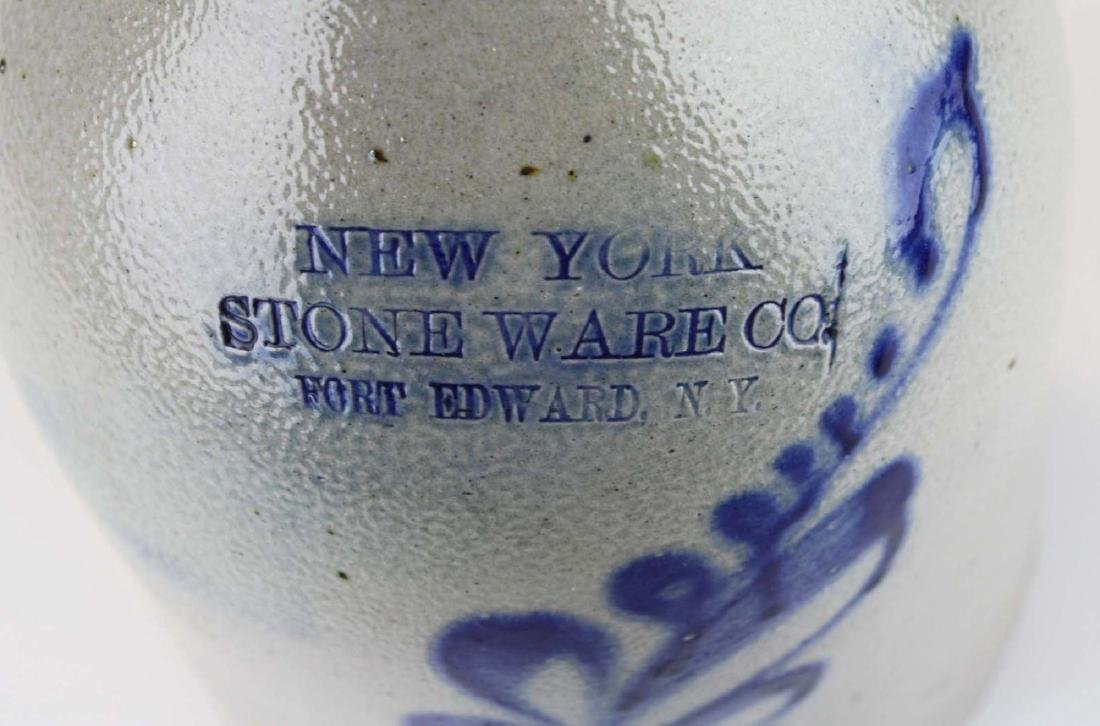 late 19th c New York Stoneware Co jug - 7