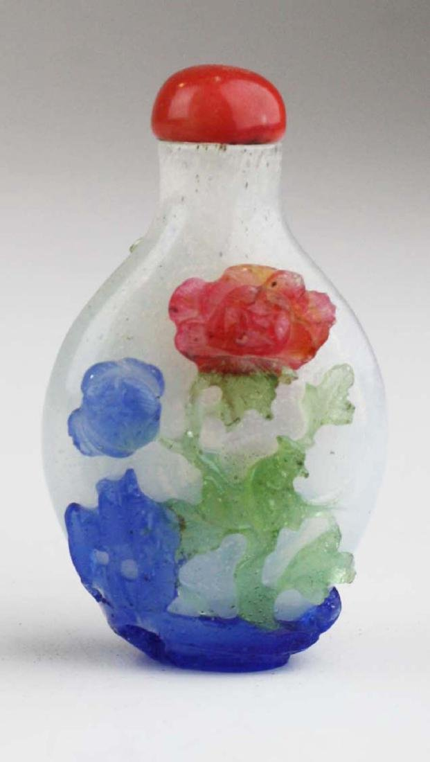 Chinese antique glass snuff bottle.