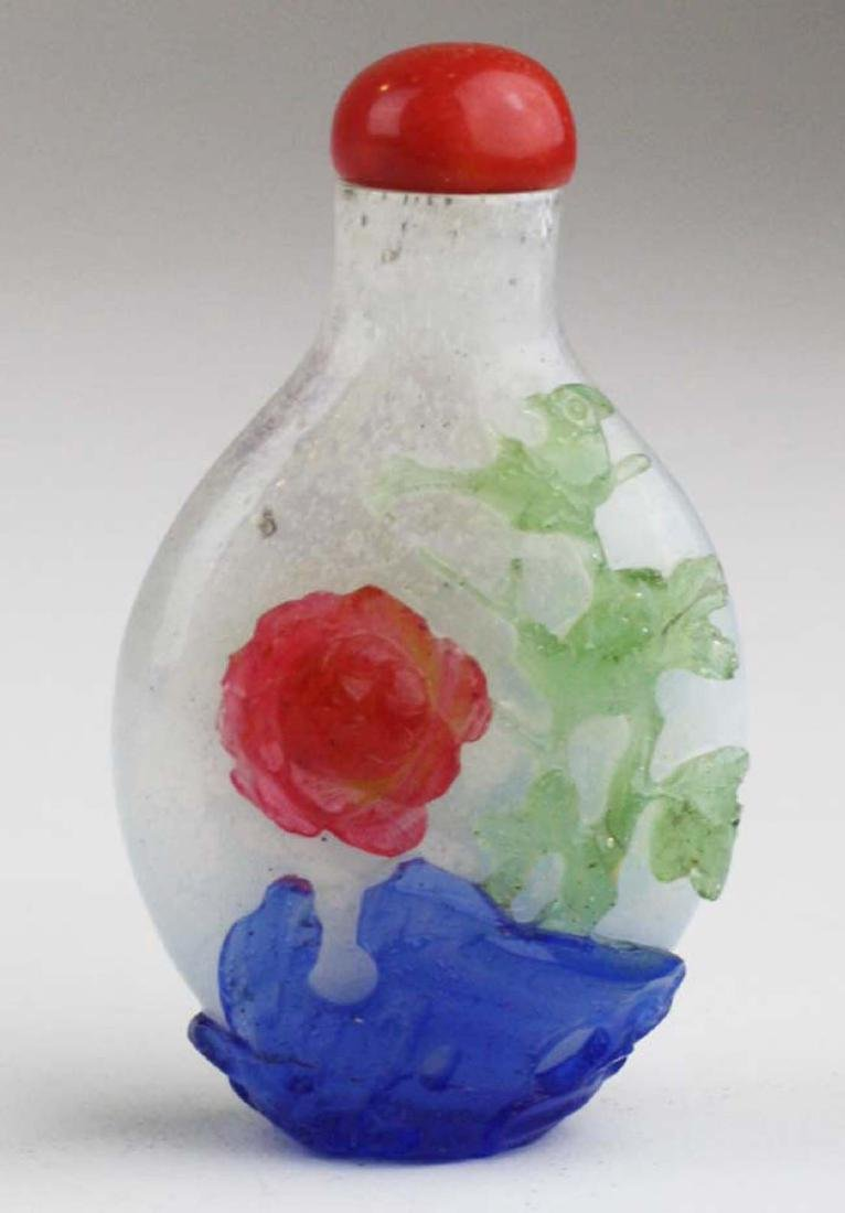 Chinese antique glass snuff bottle. - 4