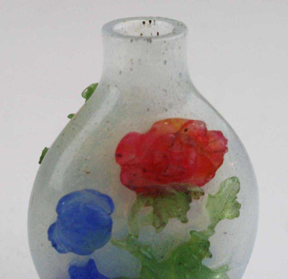 Chinese antique glass snuff bottle. - 7