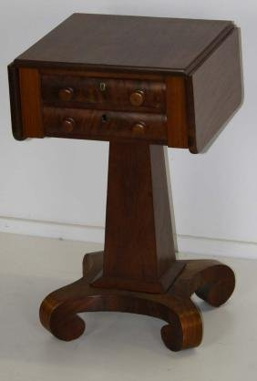 Empire Mahogany two drawer stand