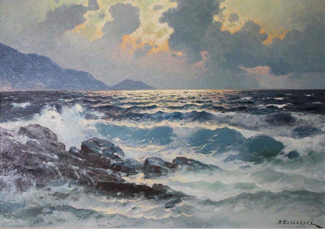 Alexander Dzigurski (American 1911-1995) Seascape