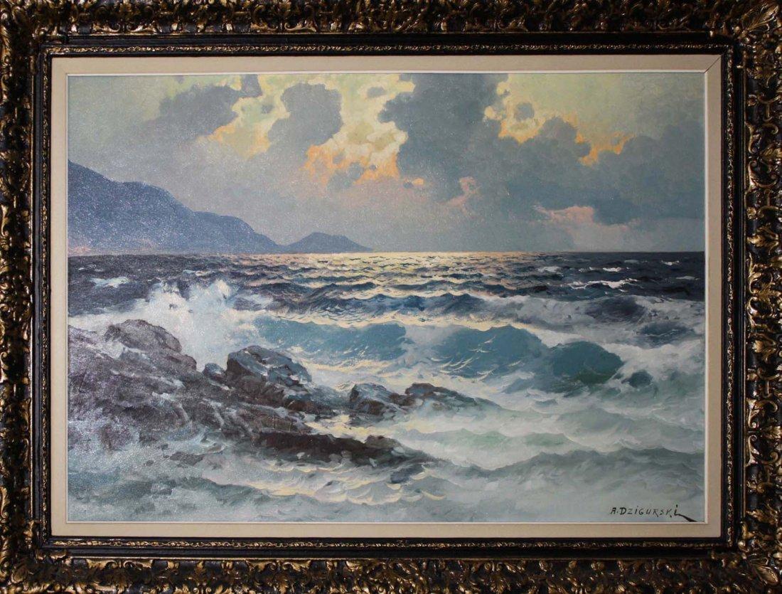 Alexander Dzigurski (American 1911-1995) Seascape - 2