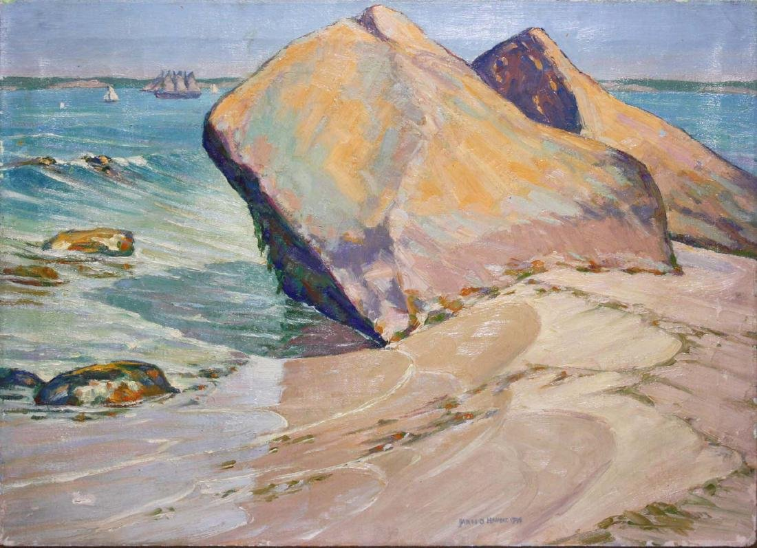 James Dexter Havens(American 1900-1960) Beach Rock