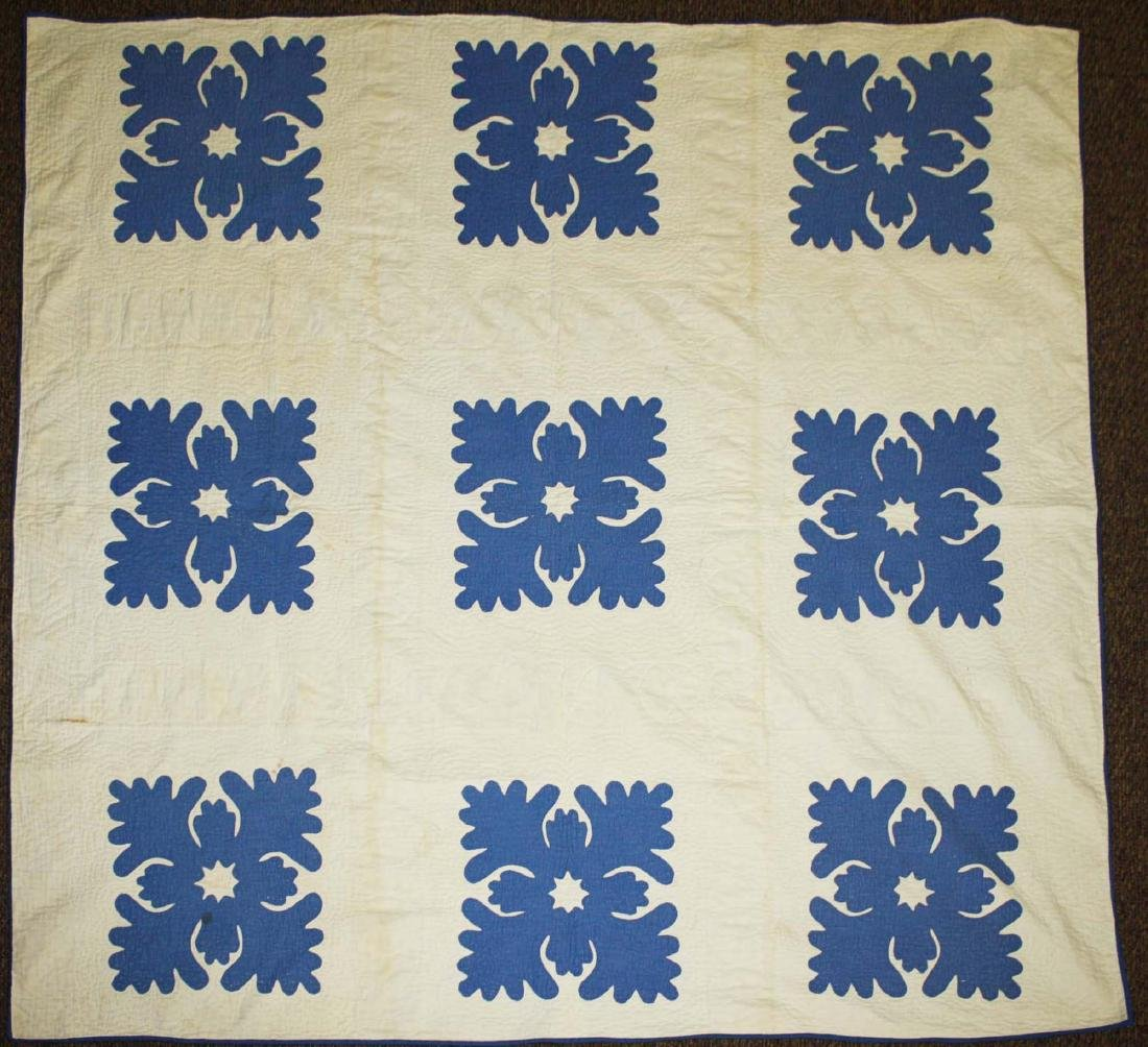 late 19th c applique quilt