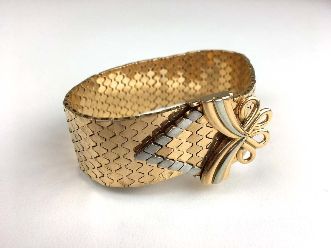 18k Yellow & white gold strap and flexible link
