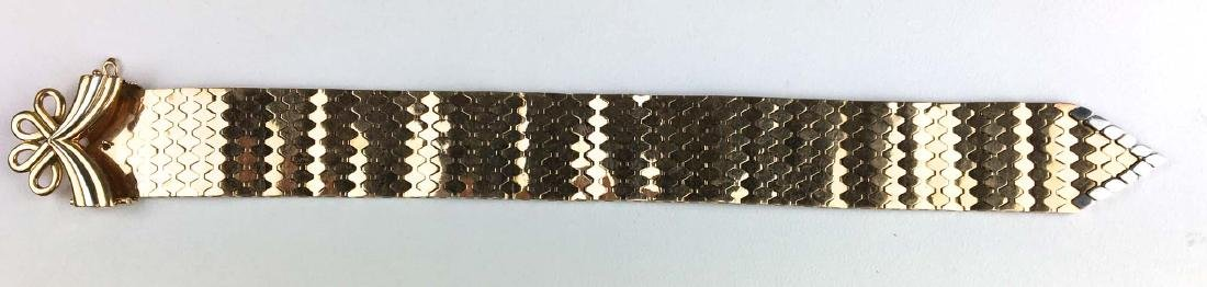 18k Yellow & white gold strap and flexible link - 2