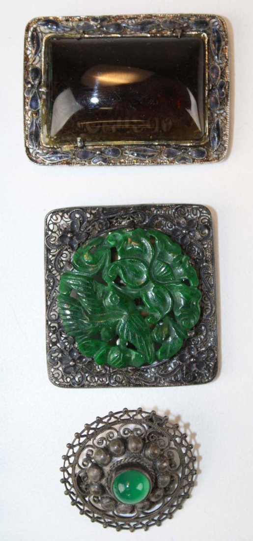 Lot of 5 Chinese ca. 1900 jewelry items. - 2
