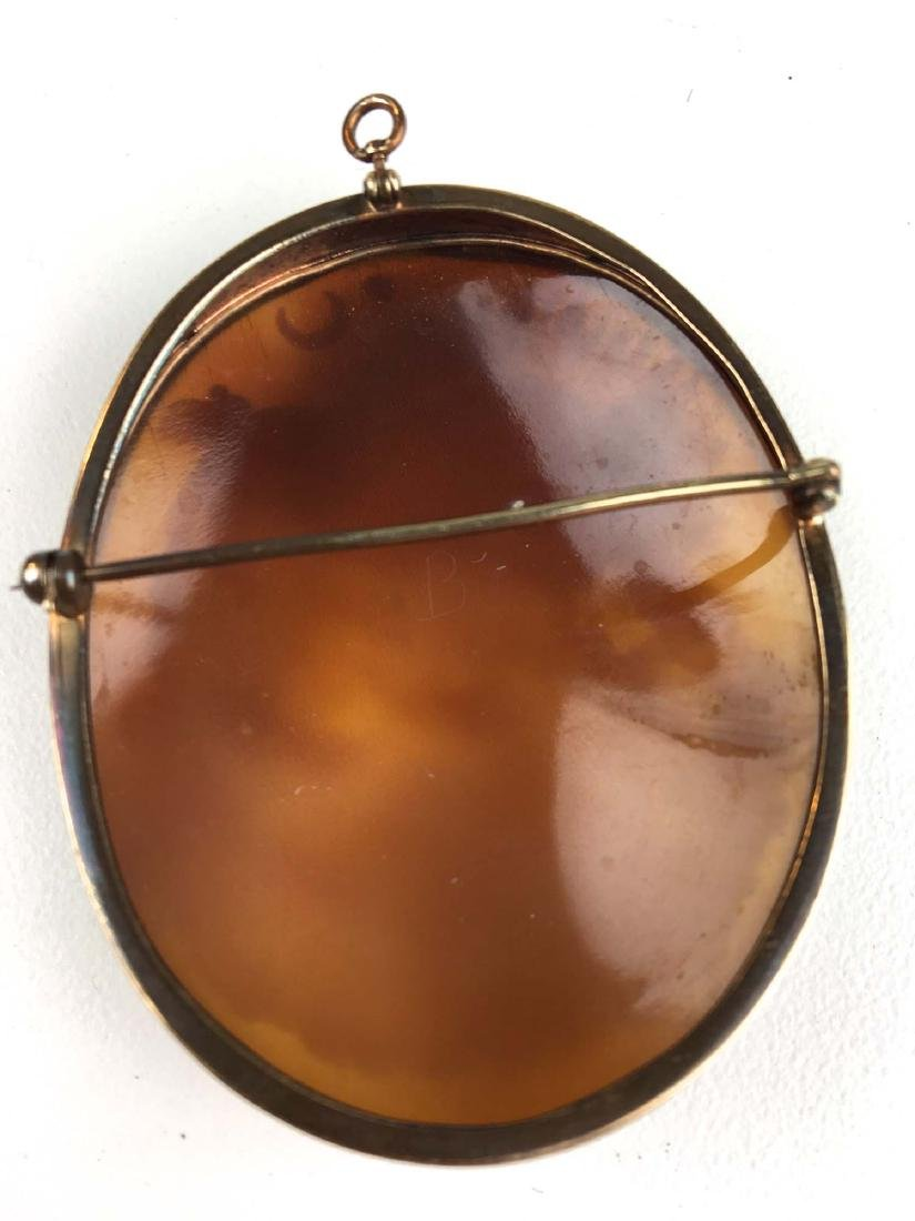 Outstanding Victorian cameo brooch pendant. - 2