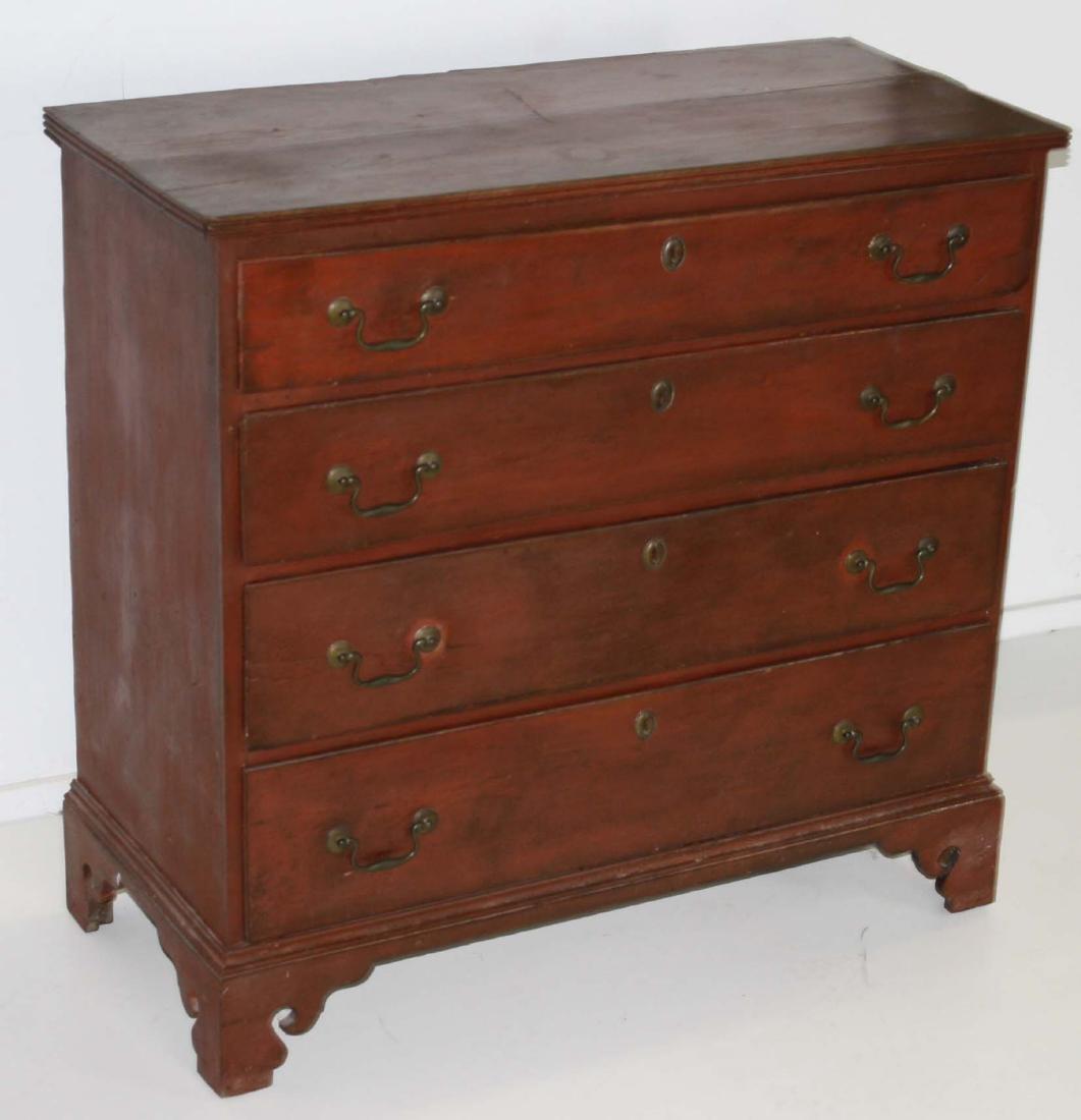 Chippendale birch chest