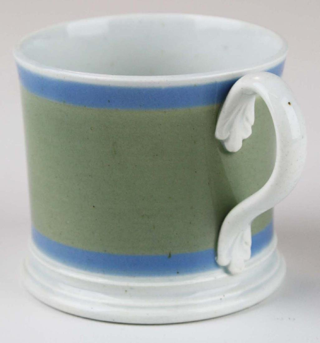 19th c. Mochaware childs presentation mug with - 4