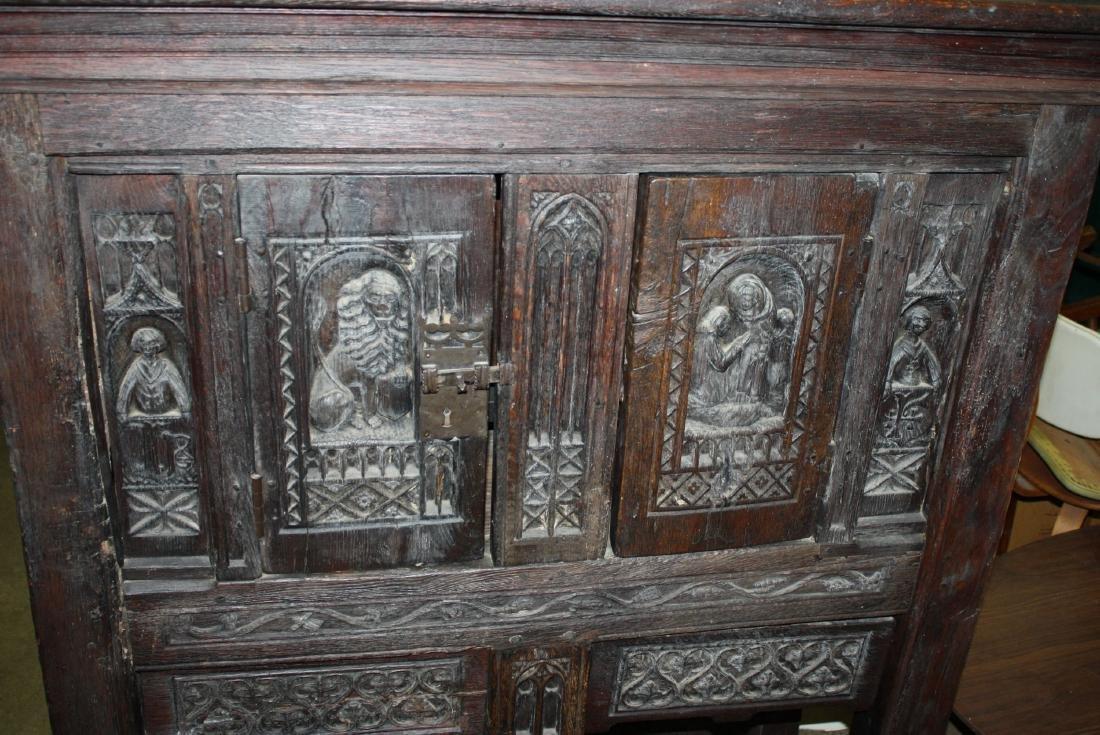 17th c Oak court cupboard - 2