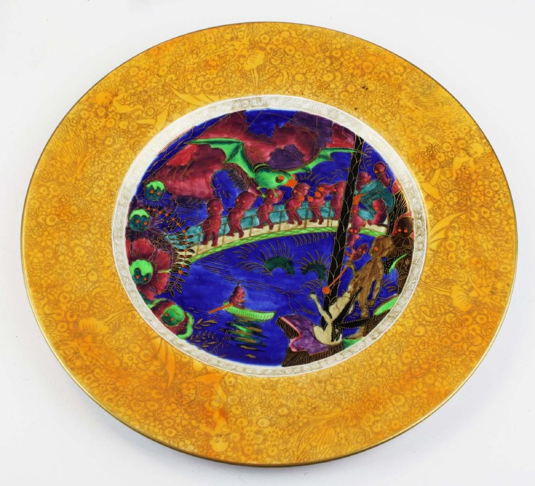 Wedgwood Fairyland Lustre plate with Imps on a Bridge