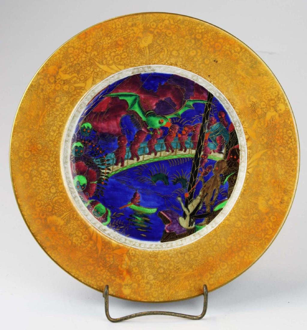 Wedgwood Fairyland Lustre plate with Imps on a Bridge - 2