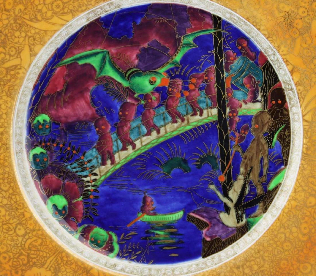 Wedgwood Fairyland Lustre plate with Imps on a Bridge - 3
