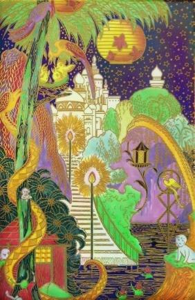 "Wedgwood Fairyland  Lustre ""Enchanted Palace"" plaque"
