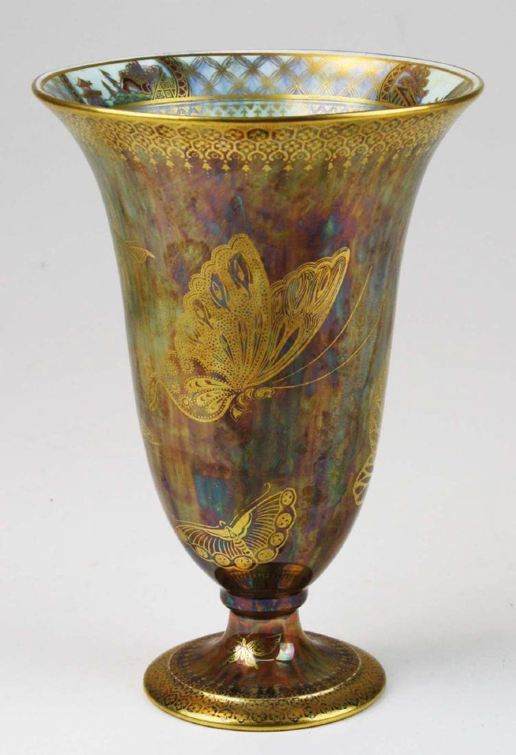Wedgwood Butterfly Lustre footed trumpet vase