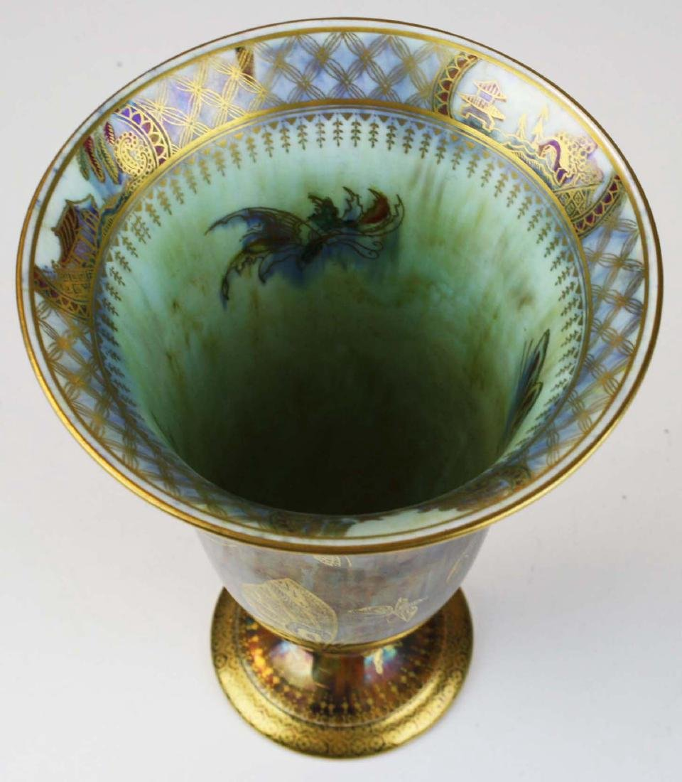 Wedgwood Butterfly Lustre footed trumpet vase - 3