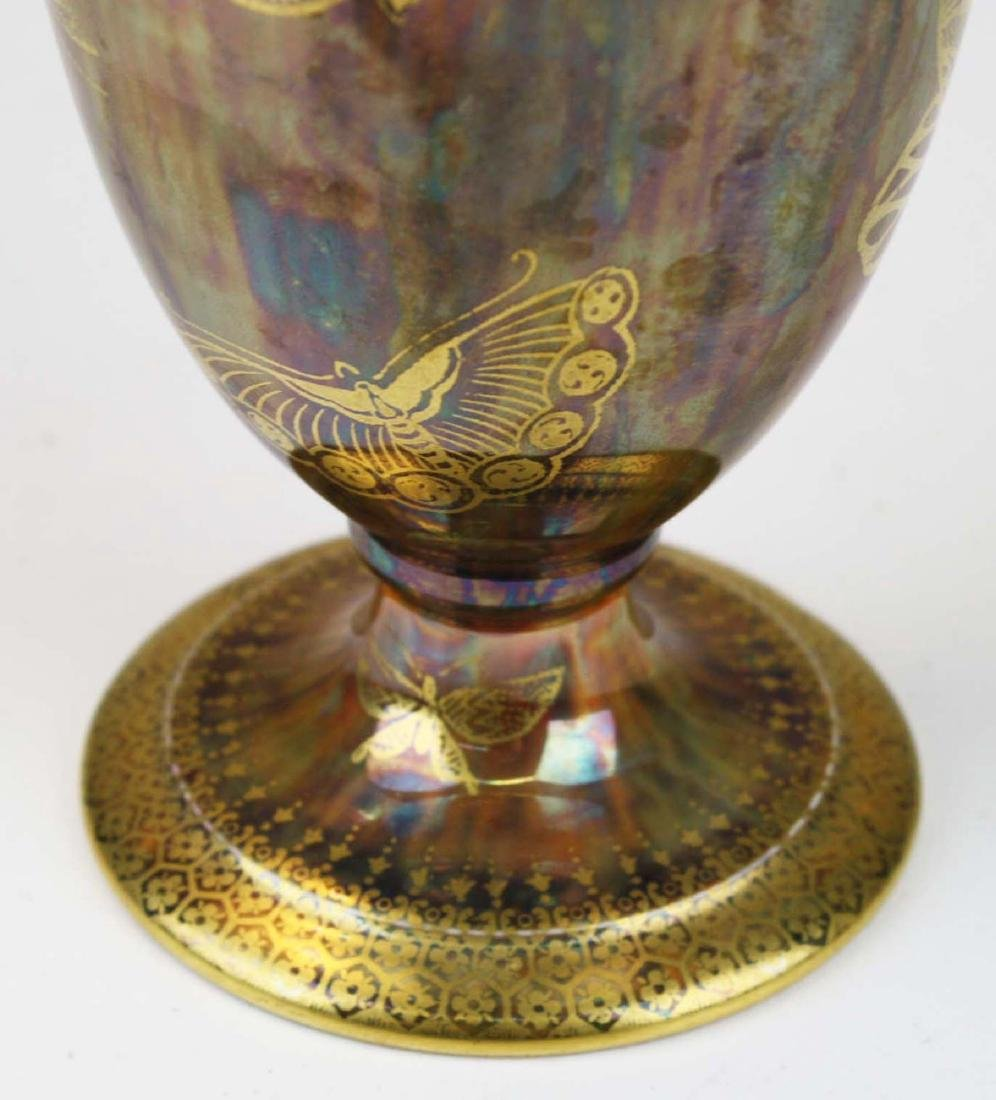 Wedgwood Butterfly Lustre footed trumpet vase - 4