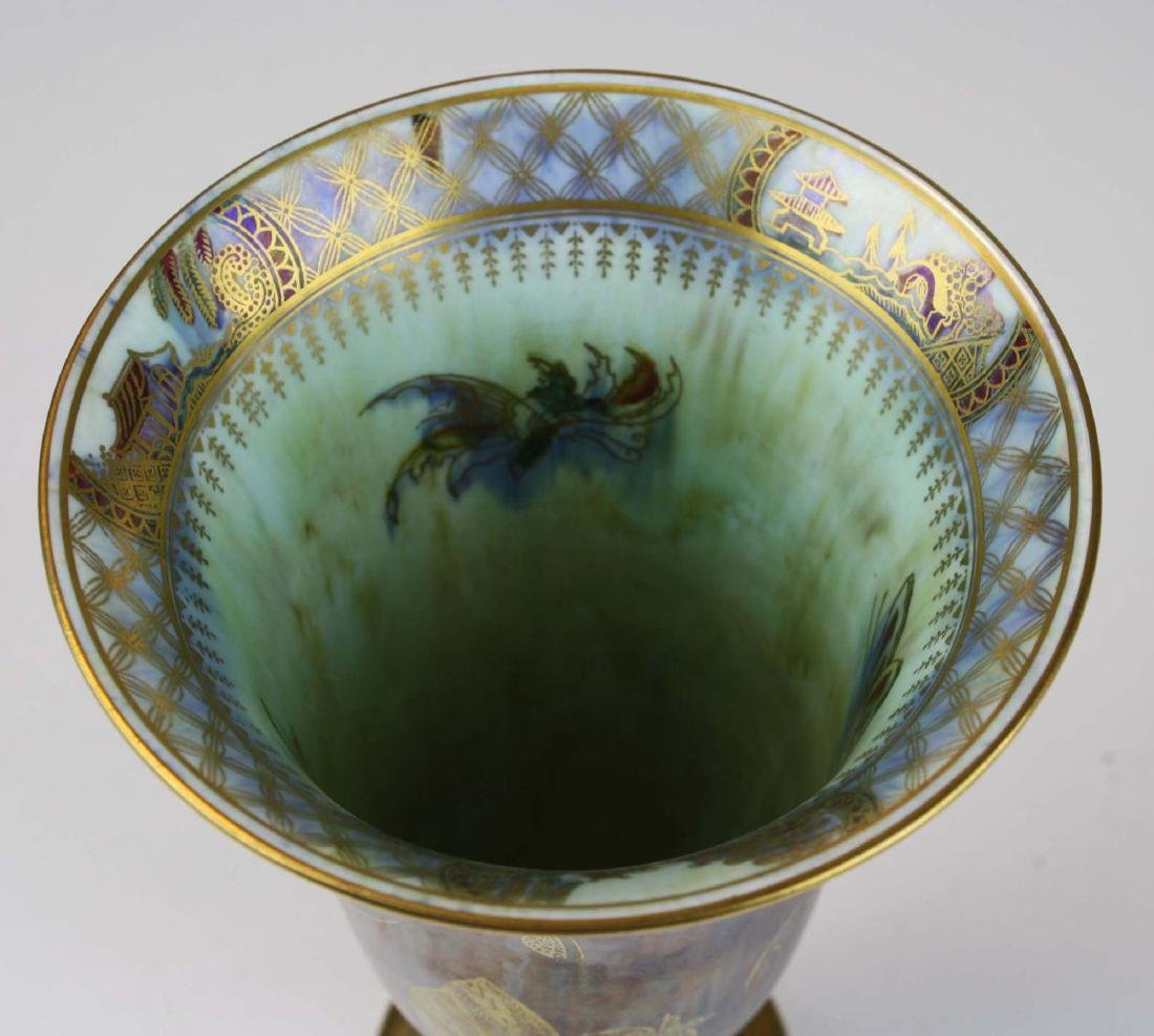Wedgwood Butterfly Lustre footed trumpet vase - 7