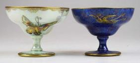 Two Wedgwood Lustre melba cups, Butterfly and