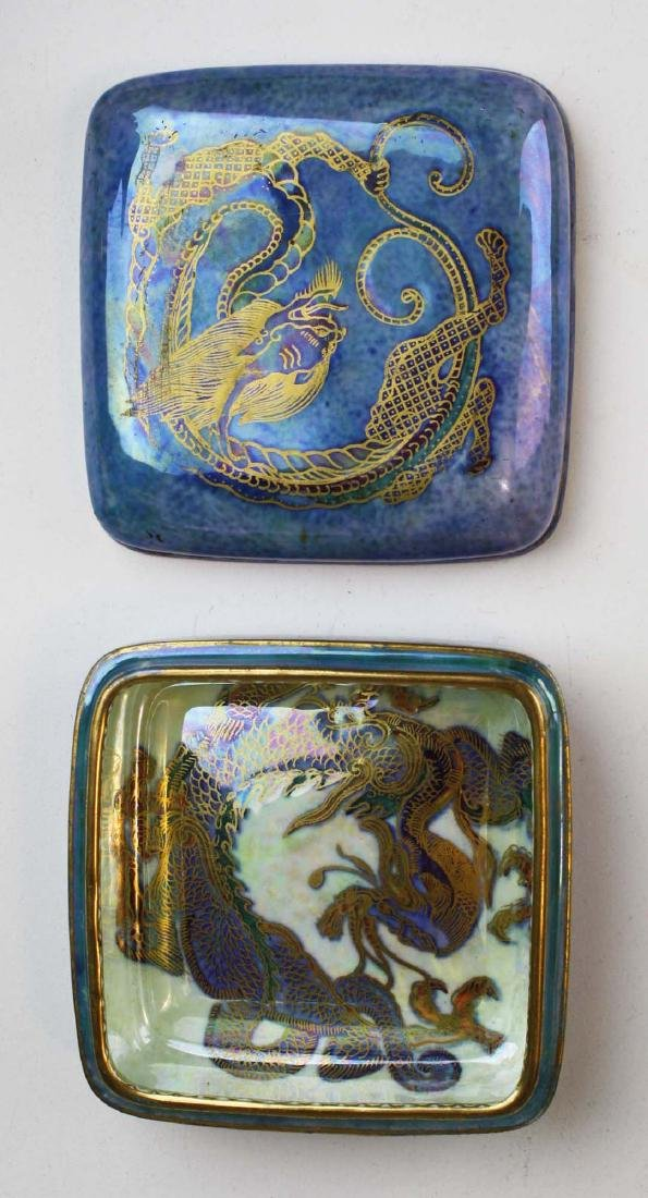 Wedgwood Dragon Lustre square dresser box, 3 Dragon - 5