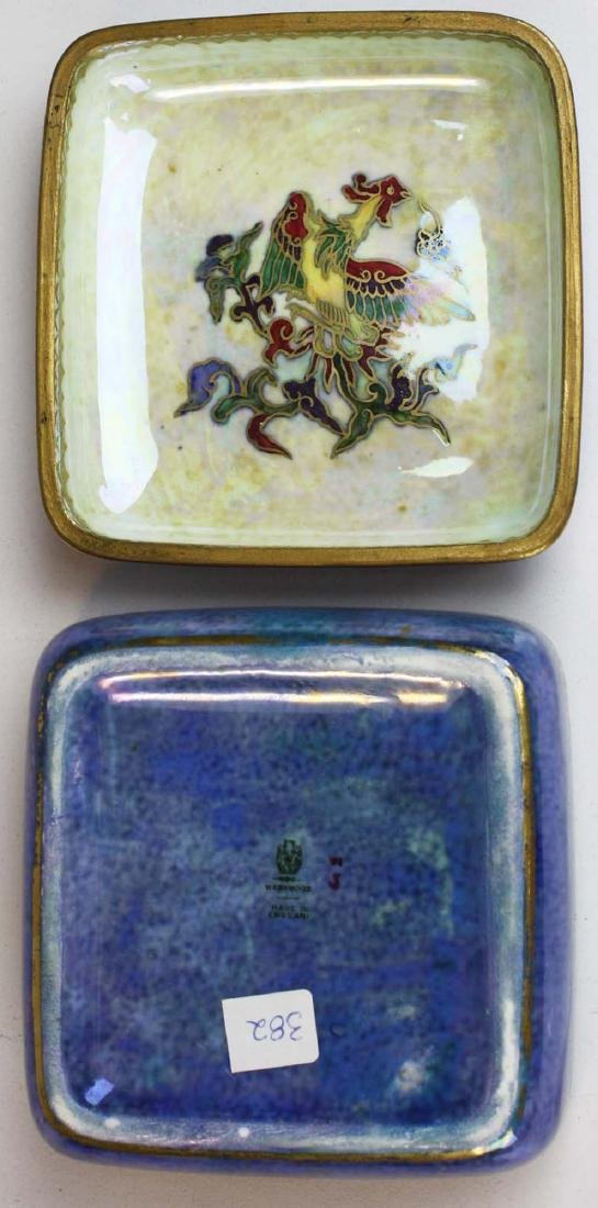 Wedgwood Dragon Lustre square dresser box, 3 Dragon - 6