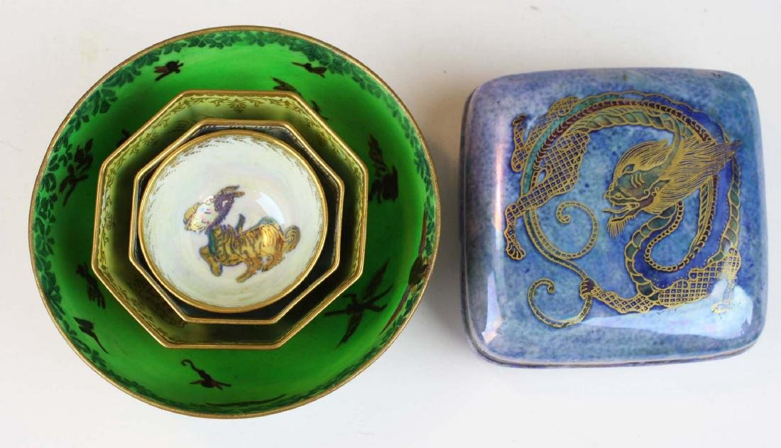 Wedgwood Dragon Lustre square dresser box, 3 Dragon - 7