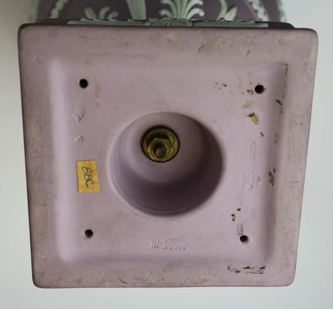 Wedgwood  lilac dip Jasperware covered urn or potpourri - 10