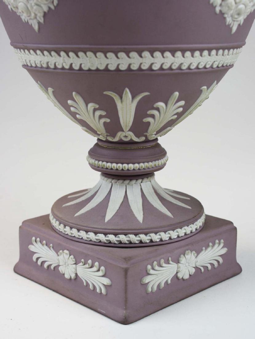 Wedgwood  lilac dip Jasperware covered urn or potpourri - 8