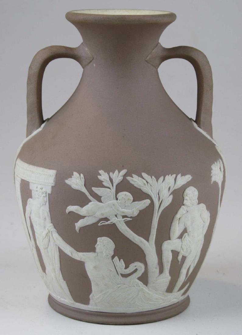 Wedgwood lilac dip Jasperware copy of the Portland vase