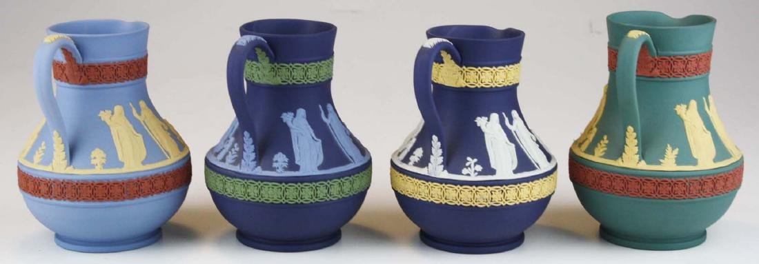 4 Wedgwood tri-color  Jasperware Etruscan pottery jugs - 2