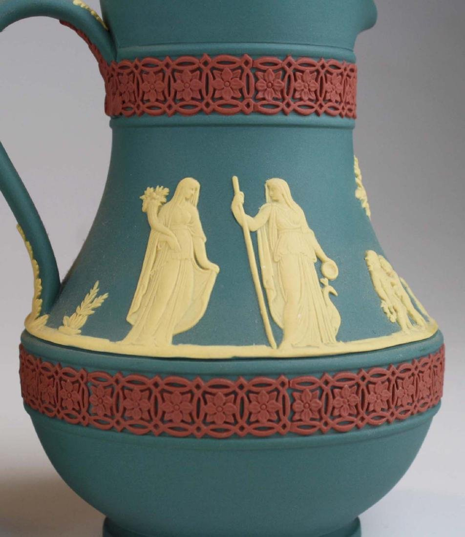 4 Wedgwood tri-color  Jasperware Etruscan pottery jugs - 5