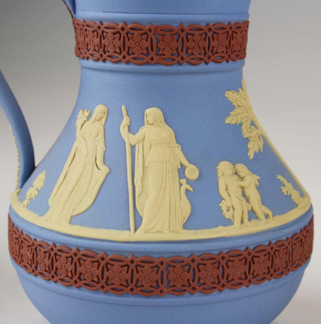 4 Wedgwood tri-color  Jasperware Etruscan pottery jugs - 8