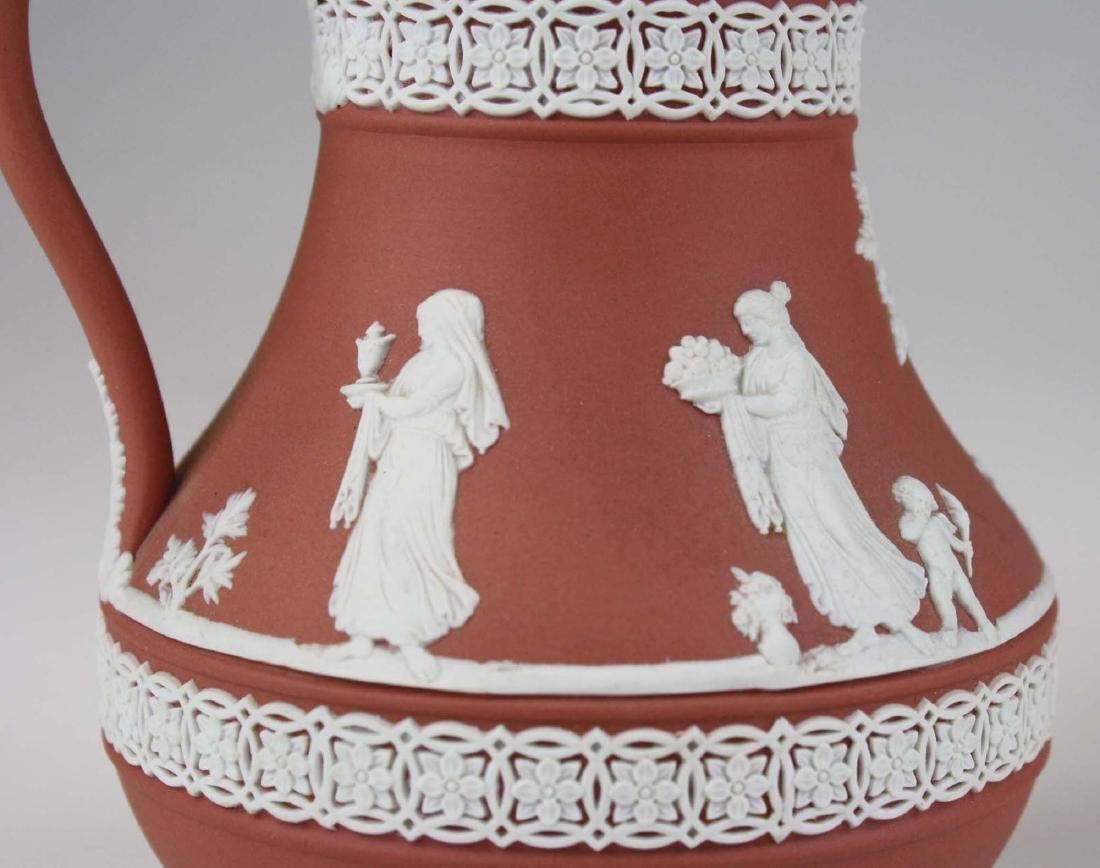 3 Wedgwood Jasperware Etruscan pottery jugs in unusual - 10
