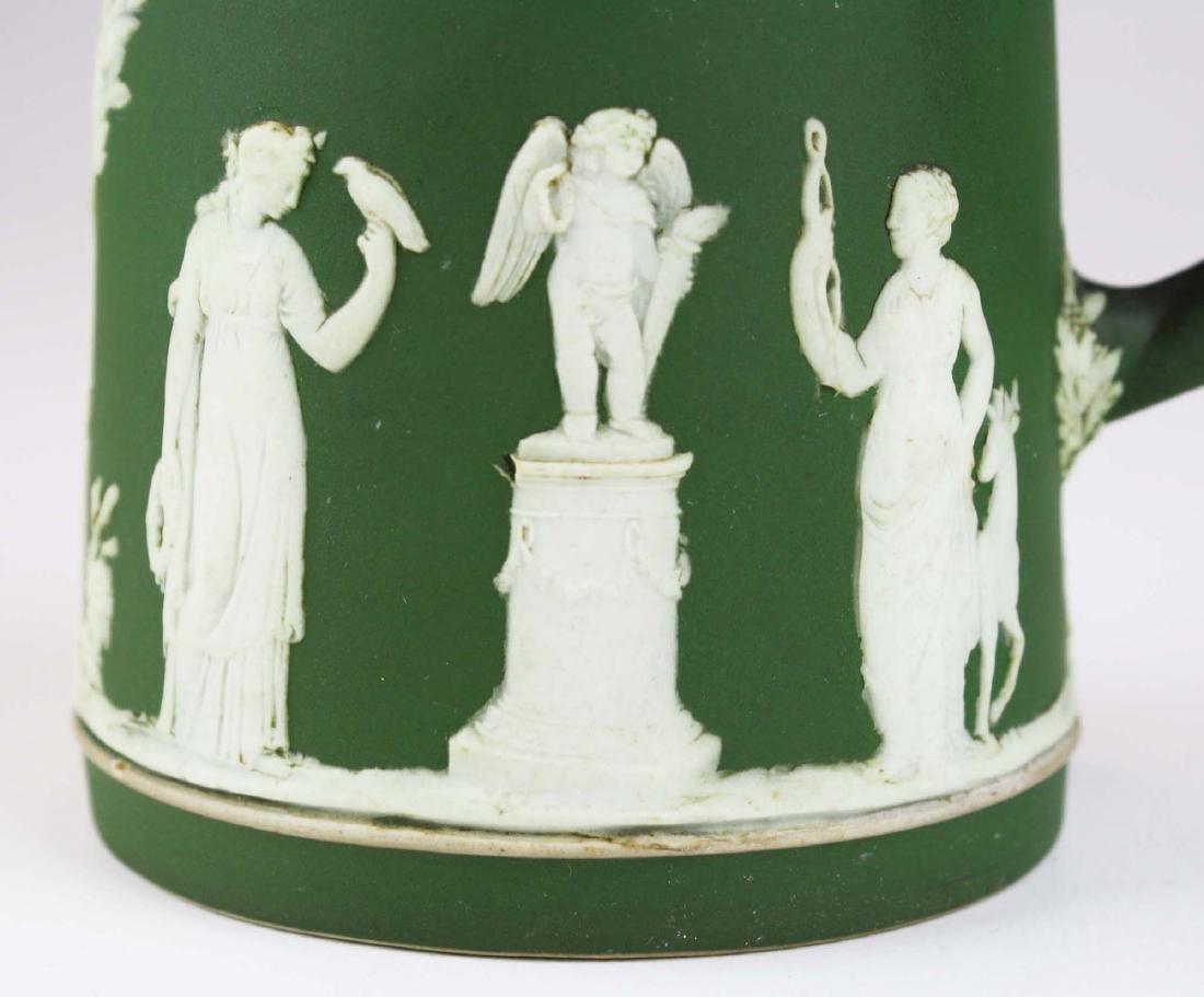 3  Wedgwood olive dip Jasperware jugs incl. Etruscan - 9
