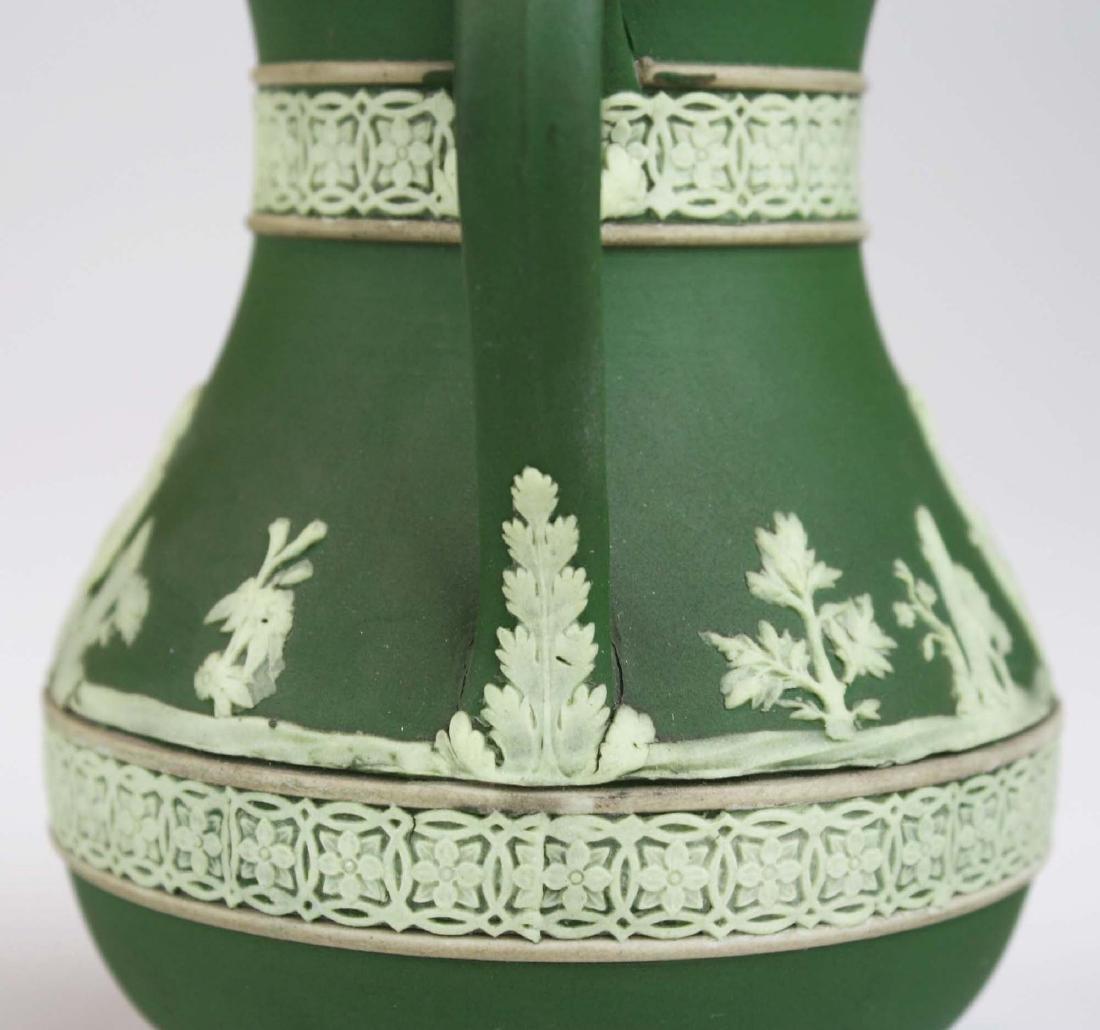 3  Wedgwood olive dip Jasperware jugs incl. Etruscan - 8