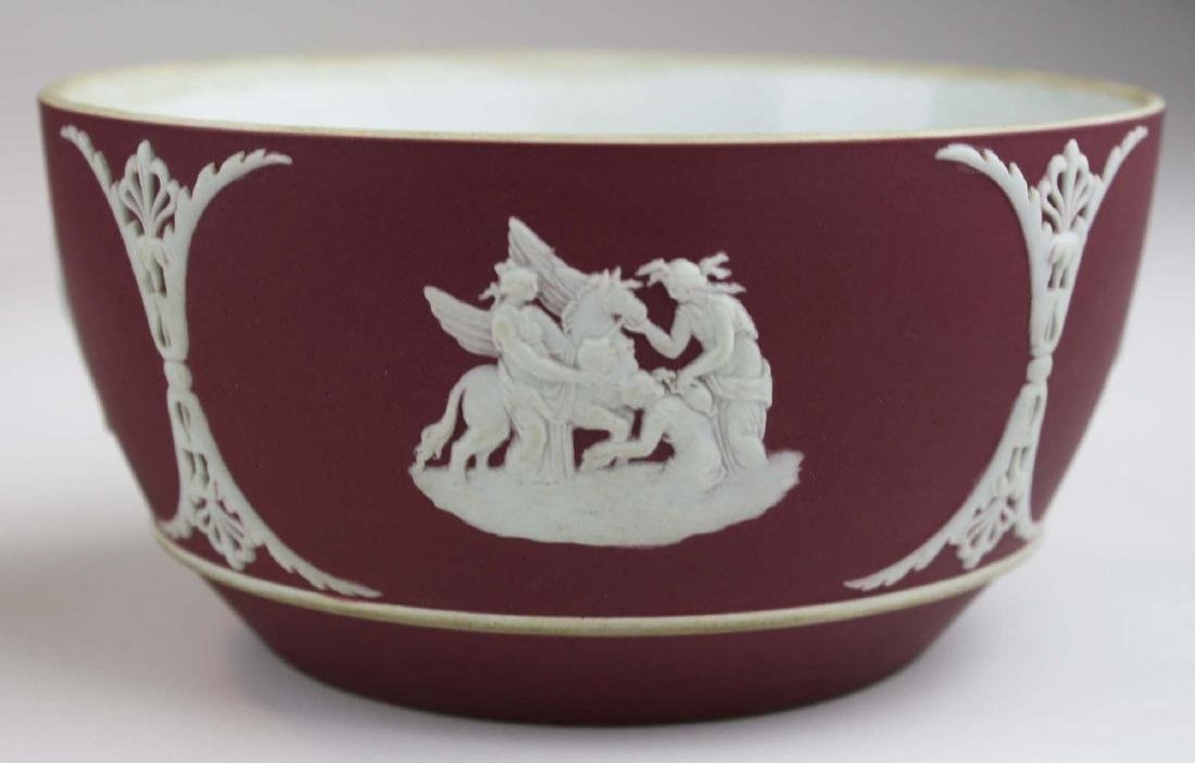 5 pcs scarce Wedgwood crimson dip Jasperware incl. 3 - 4