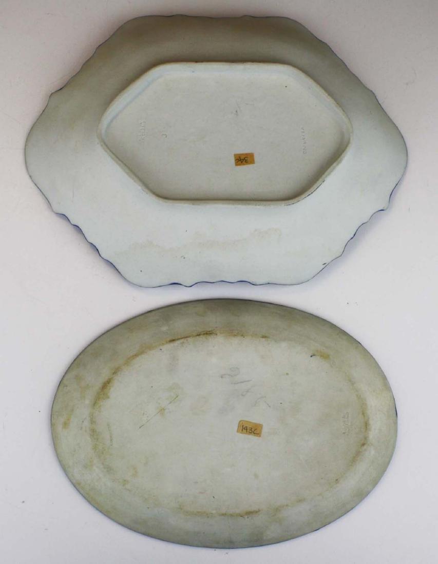 2 Wedgwood cobalt dip Jasperware pottery dishes - 4