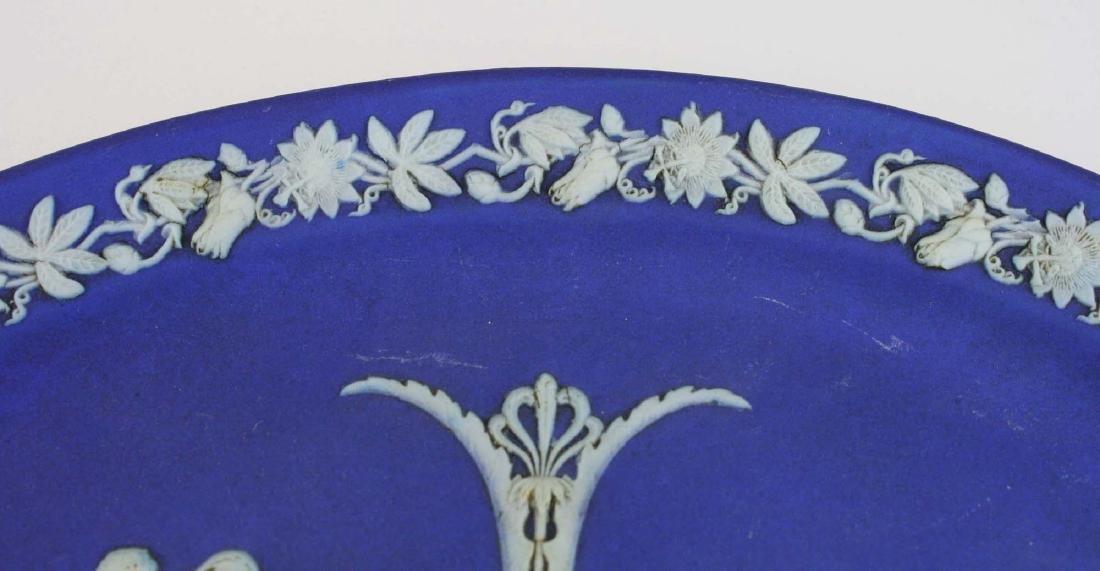 2 Wedgwood cobalt dip Jasperware pottery dishes - 5
