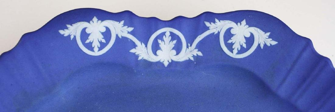 2 Wedgwood cobalt dip Jasperware pottery dishes - 6