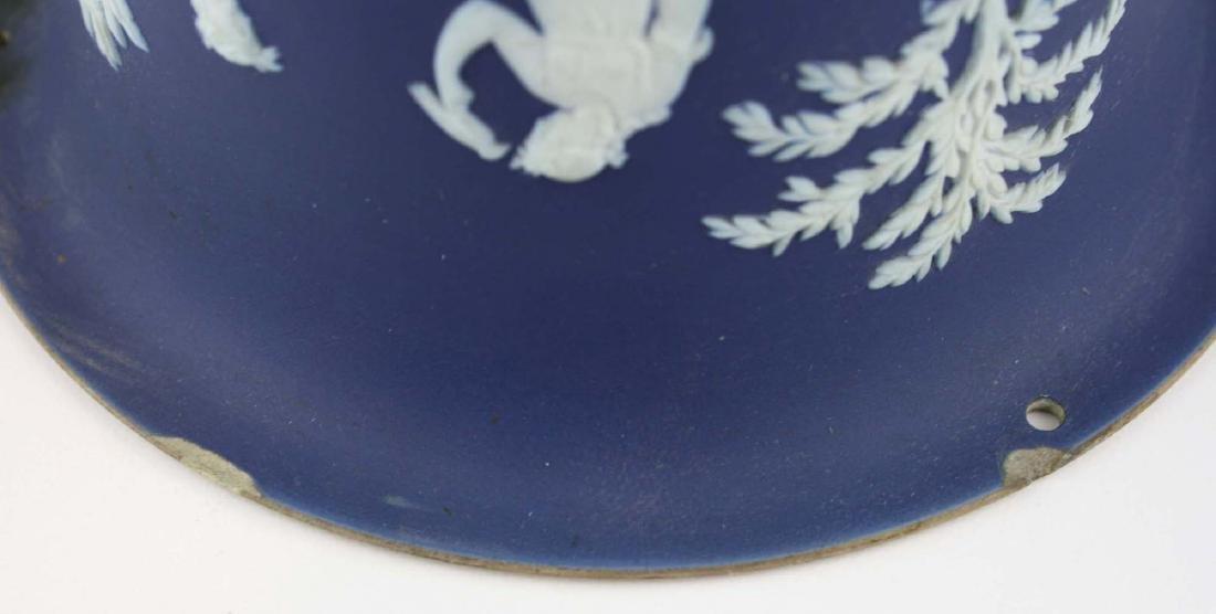 scarce Wedgwood cobalt dip Jasperware pottery hanging - 7