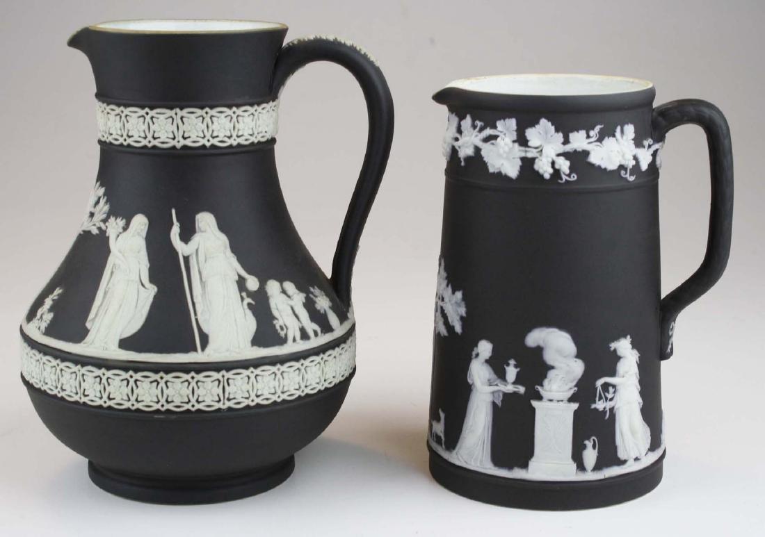 Wedgwood black dip Jasperware Etruscan and Trojan